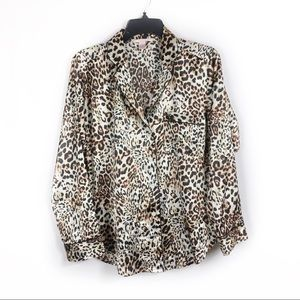 Victoria's Secret Leopard print pajama top